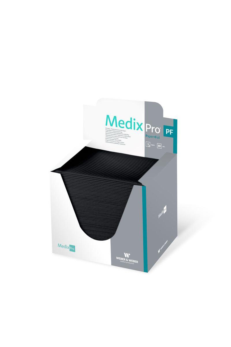 Czarny Podkład Medyczny 33x48 cm Bibułowo-Foliowy MedixPro