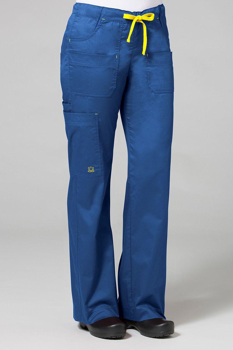 Spodnie medyczne damskie Blossom (elastic) królewski granat