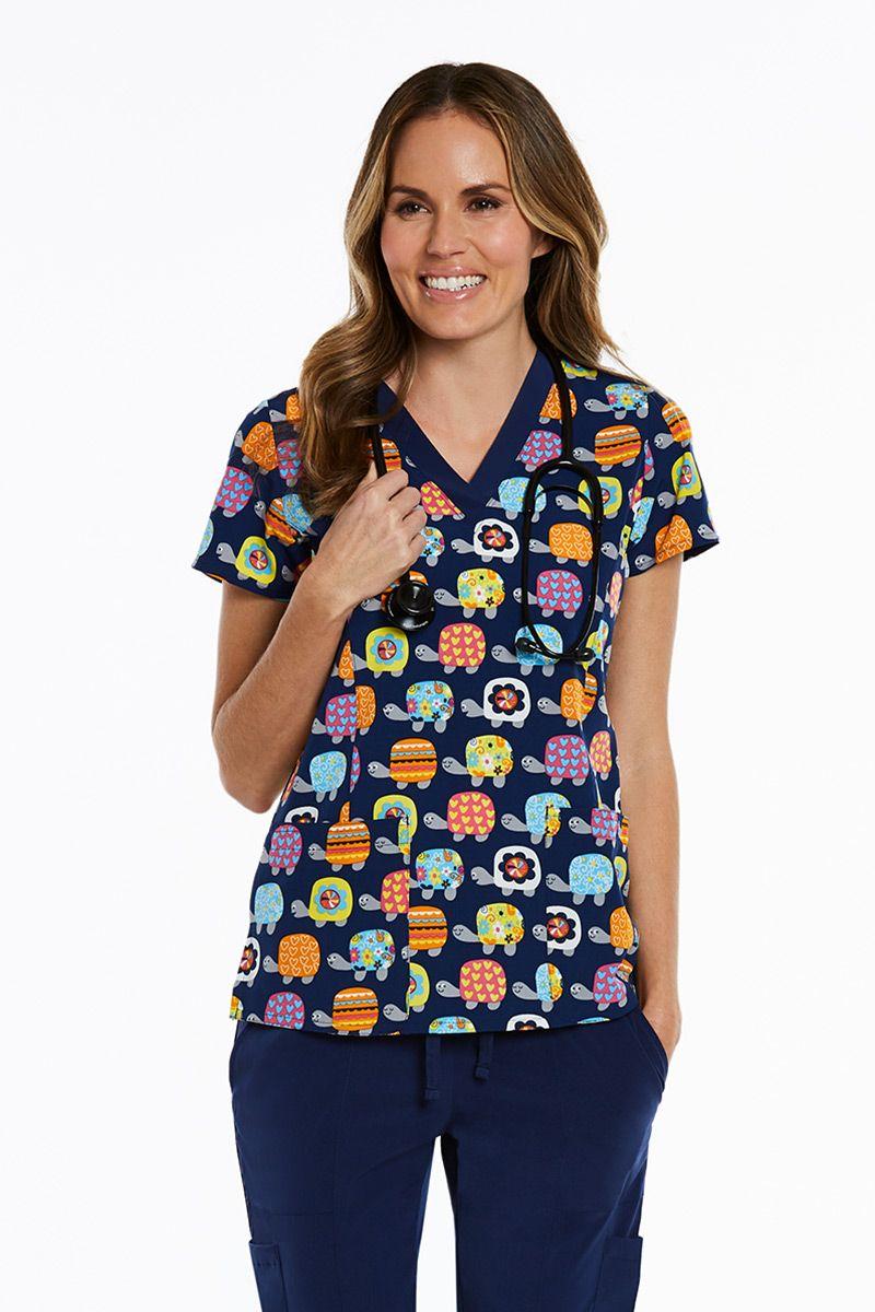 Kolorowa bluza damska Maevn Prints kolorowe żółwie