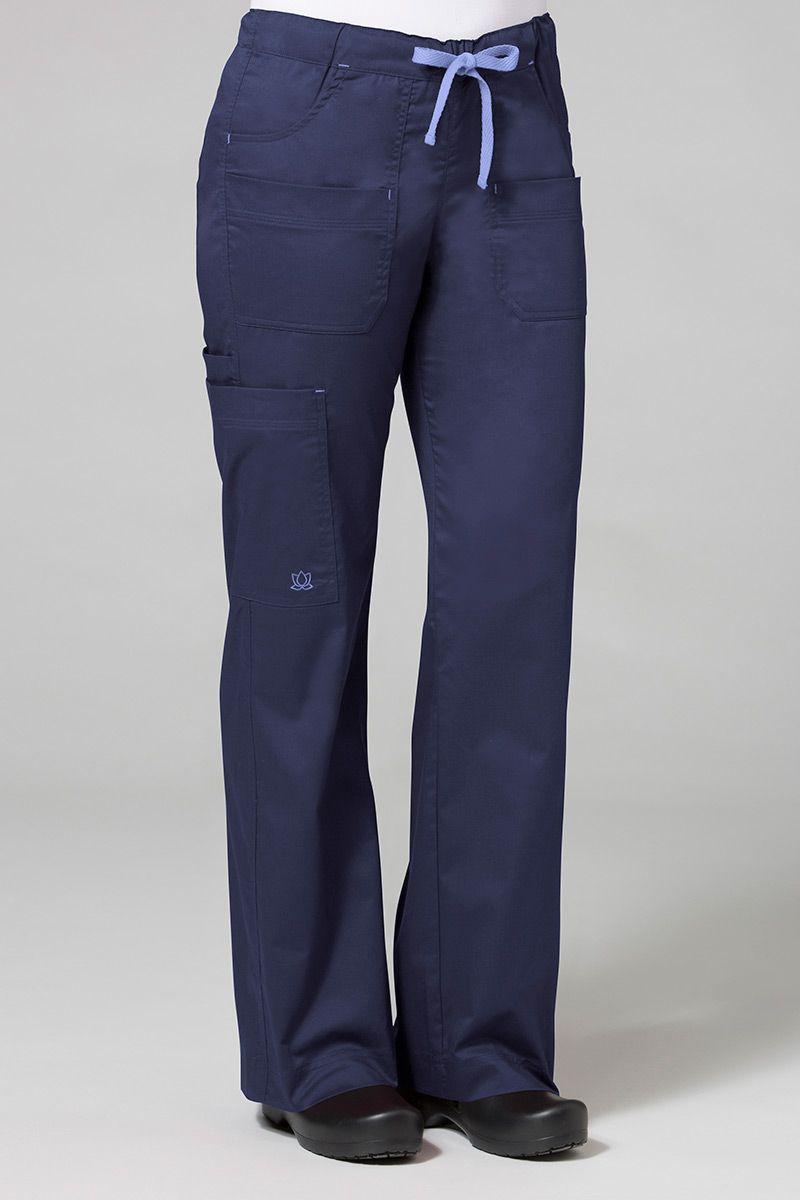 Spodnie medyczne damskie Blossom (elastic) ciemny granat