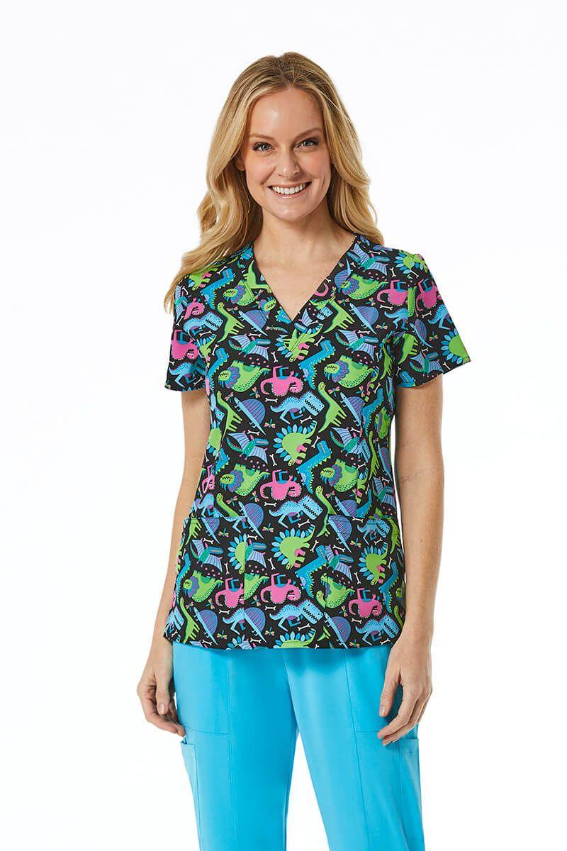 Kolorowa bluza damska Maevn Prints dinoland