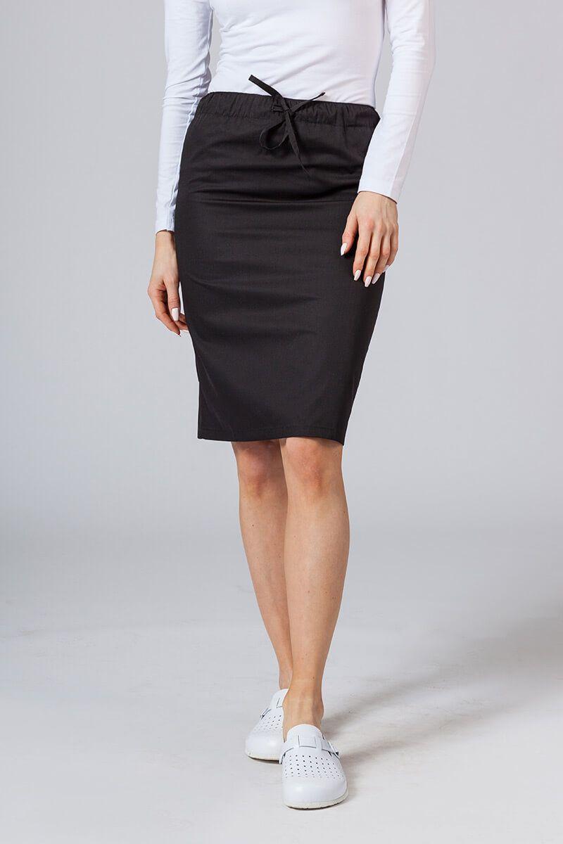 Spódnica medyczna długa Sunrise Uniforms czarna