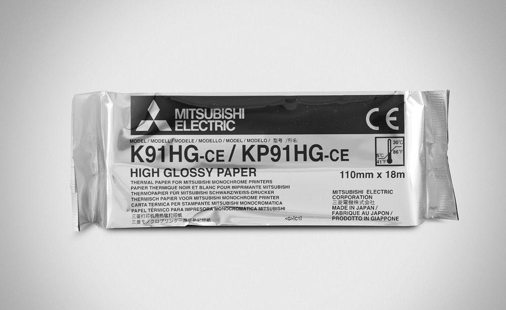 Papier do videoprintera USG Mitsubishi K91HG/KP91HG