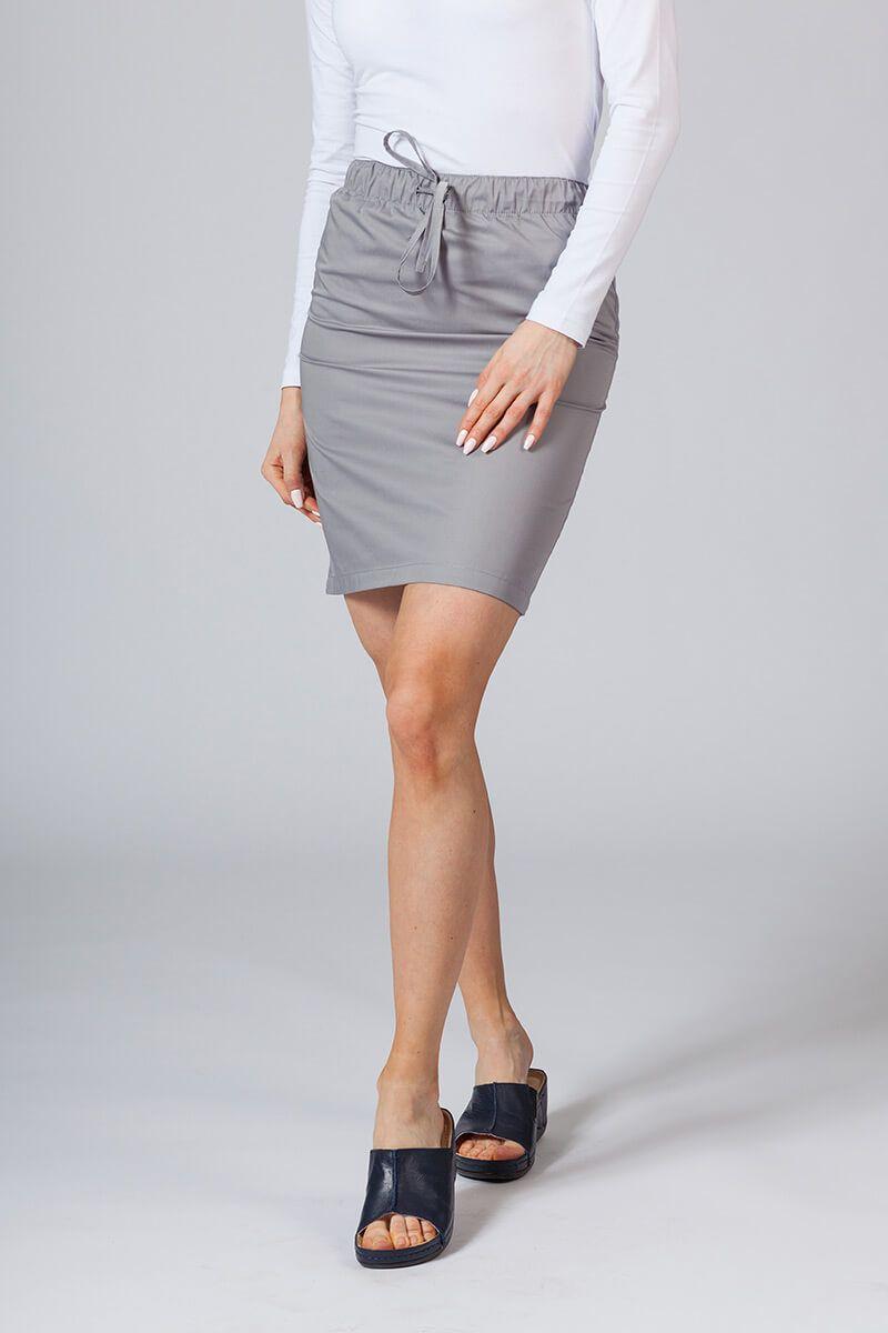 Spódnica medyczna krótka Sunrise Uniforms szara