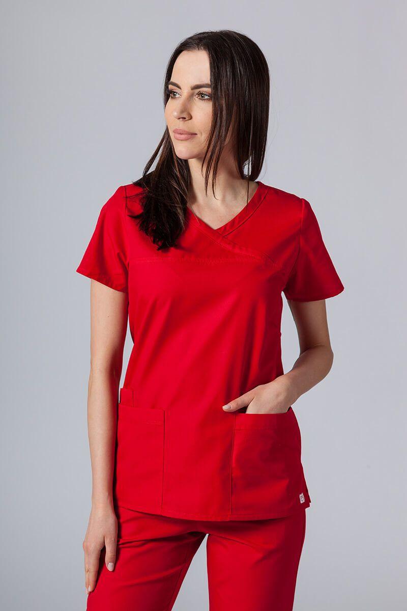 Bluza damska Maevn Red Panda Asymetric czerwona