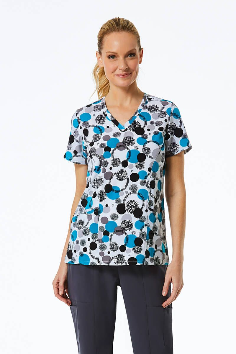 Kolorowa bluza damska Maevn Prints kropki i kółka
