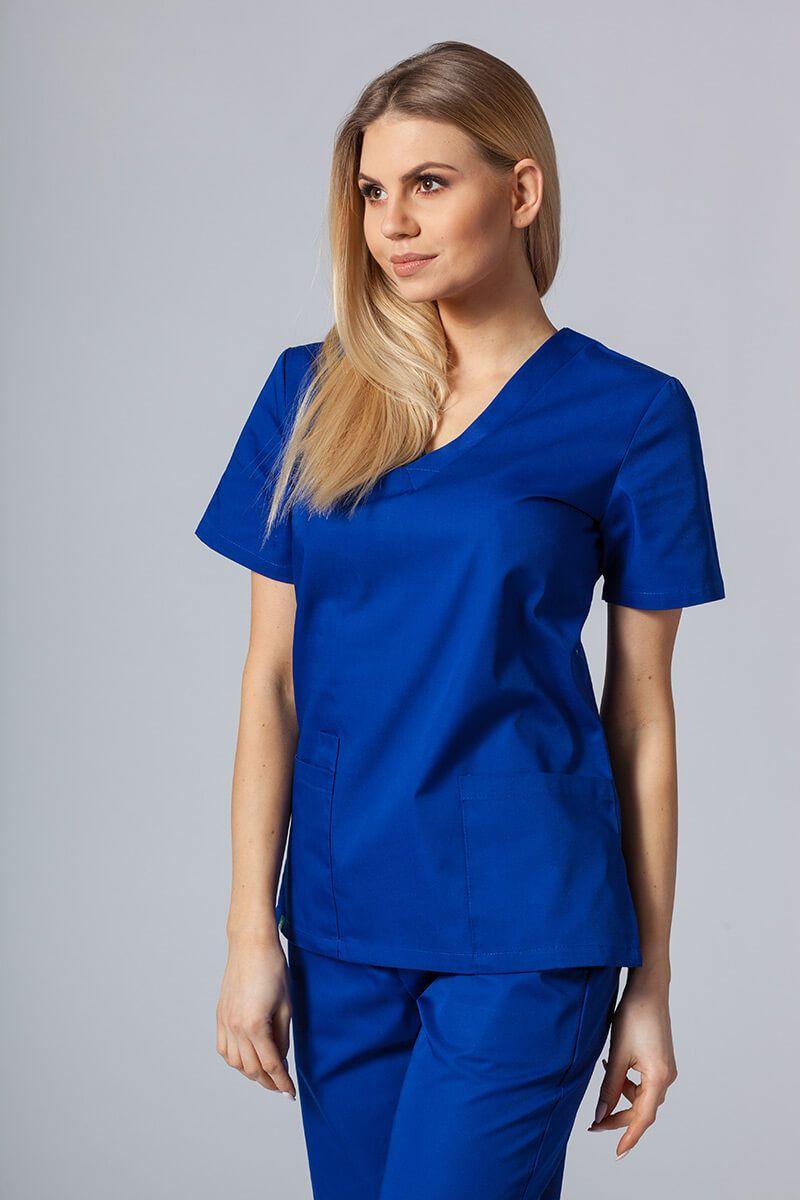 Bluza medyczna damska Sunrise Uniforms granatowa taliowana