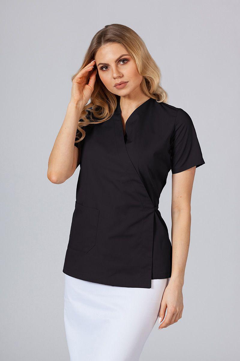 Fartuszek/bluza damska wiązana Sunrise Uniforms czarny