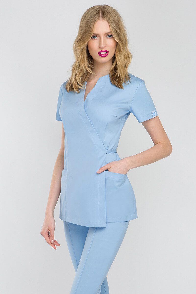 Fartuszek medyczny wiązany Vena Spa 4 błękitny
