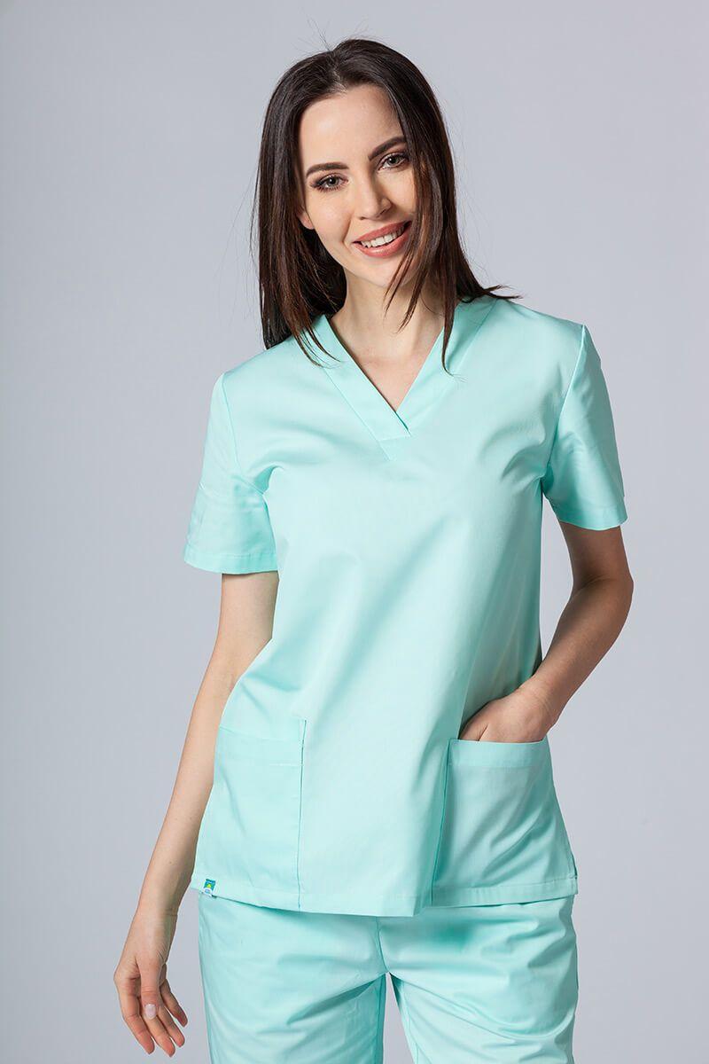 Bluza medyczna damska Sunrise Uniforms miętowa taliowana