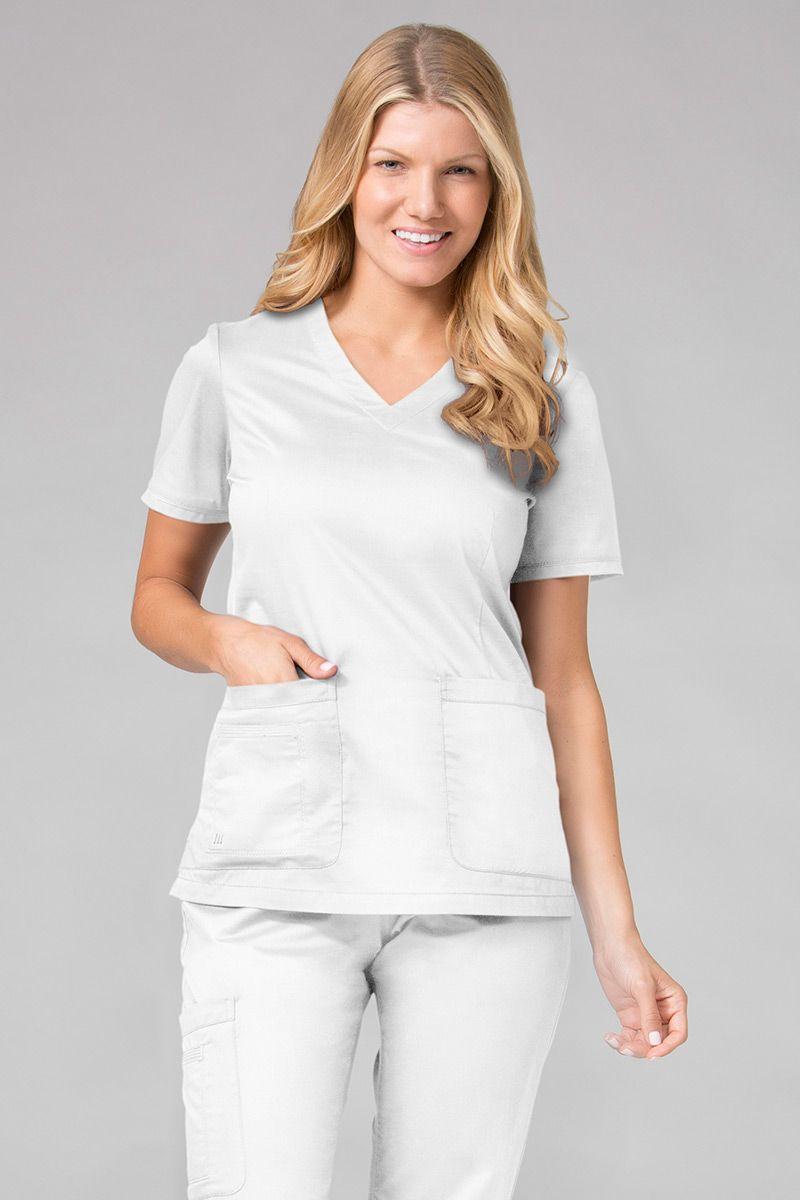 Bluza damska Maevn Blossom (elastic) biała