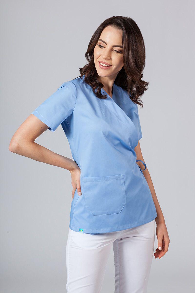 Fartuszek/bluza damska wiązana Sunrise Uniforms niebieska
