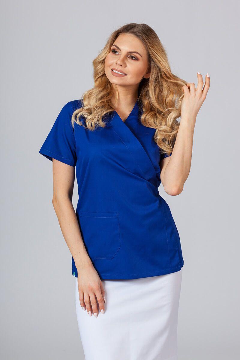 Fartuszek/bluza damska wiązana Sunrise Uniforms granatowa