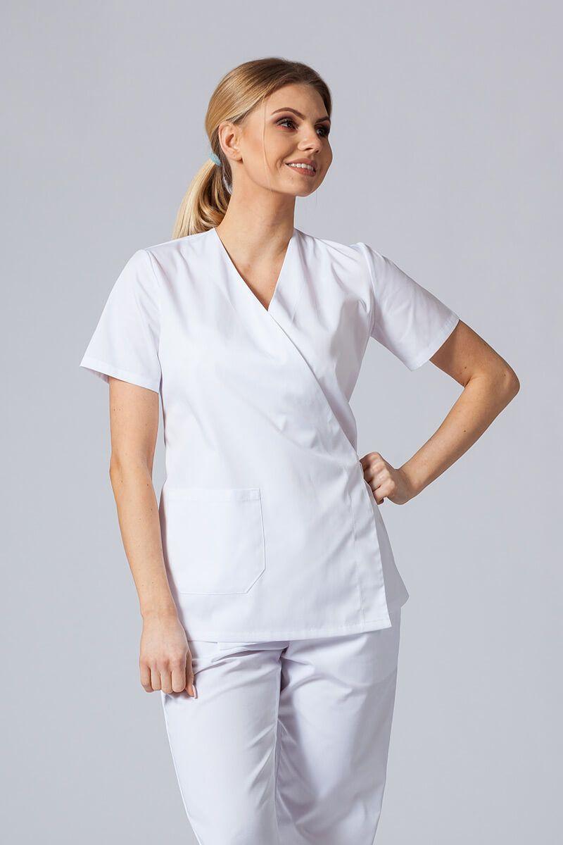 Fartuszek/bluza damska wiązana Sunrise Uniforms biała