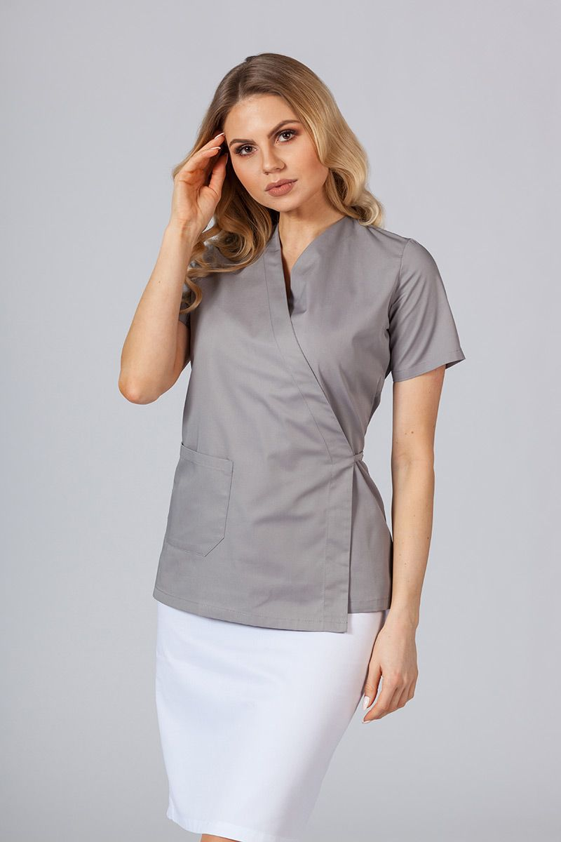 Fartuszek/bluza damska wiązana Sunrise Uniforms szara