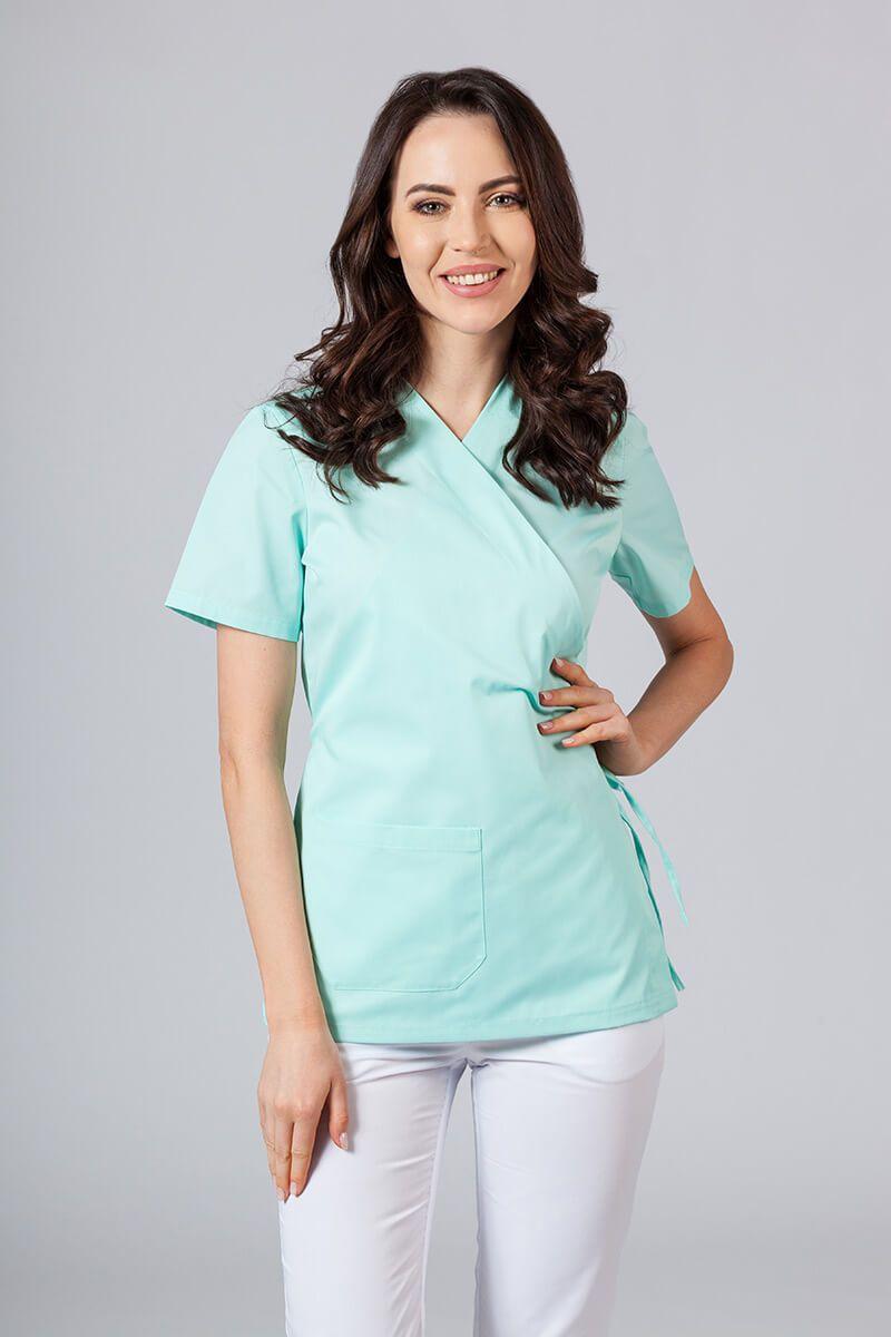 Fartuszek/bluza damska wiązana Sunrise Uniforms miętowa