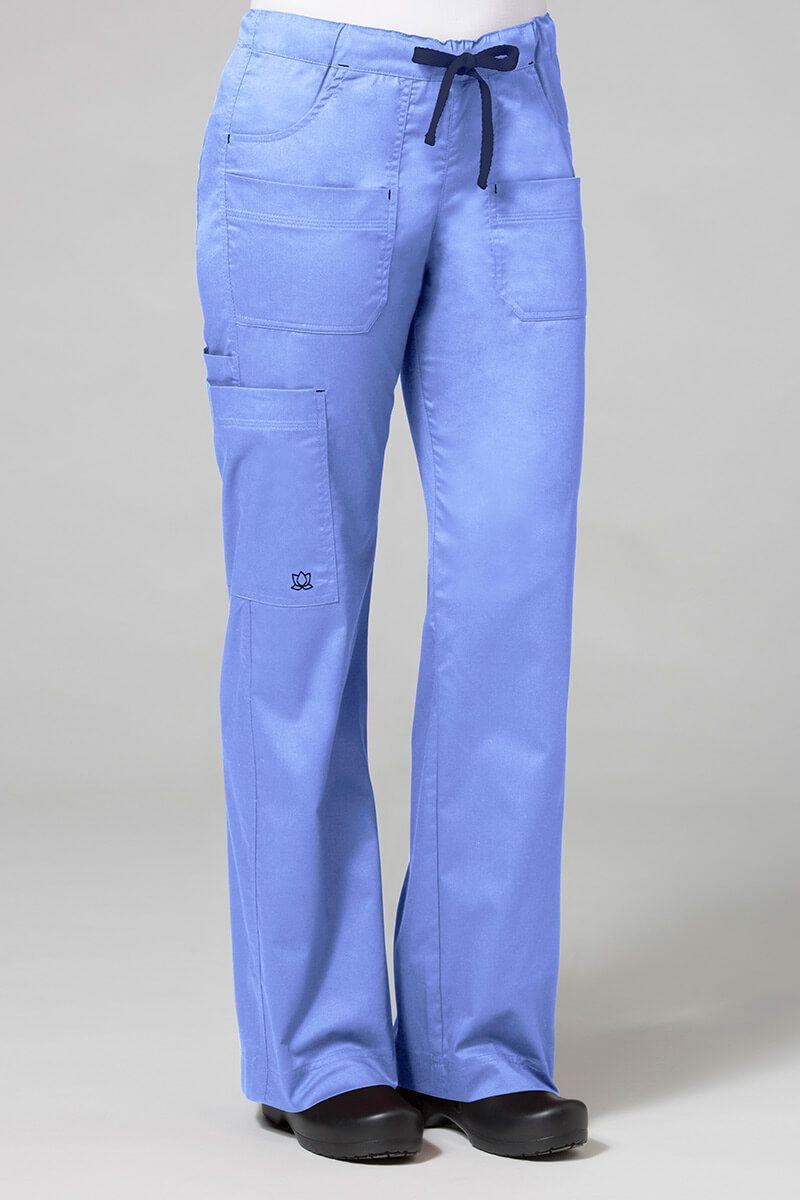 Spodnie medyczne damskie Maevn Blossom (elastic) klasyczny błękit