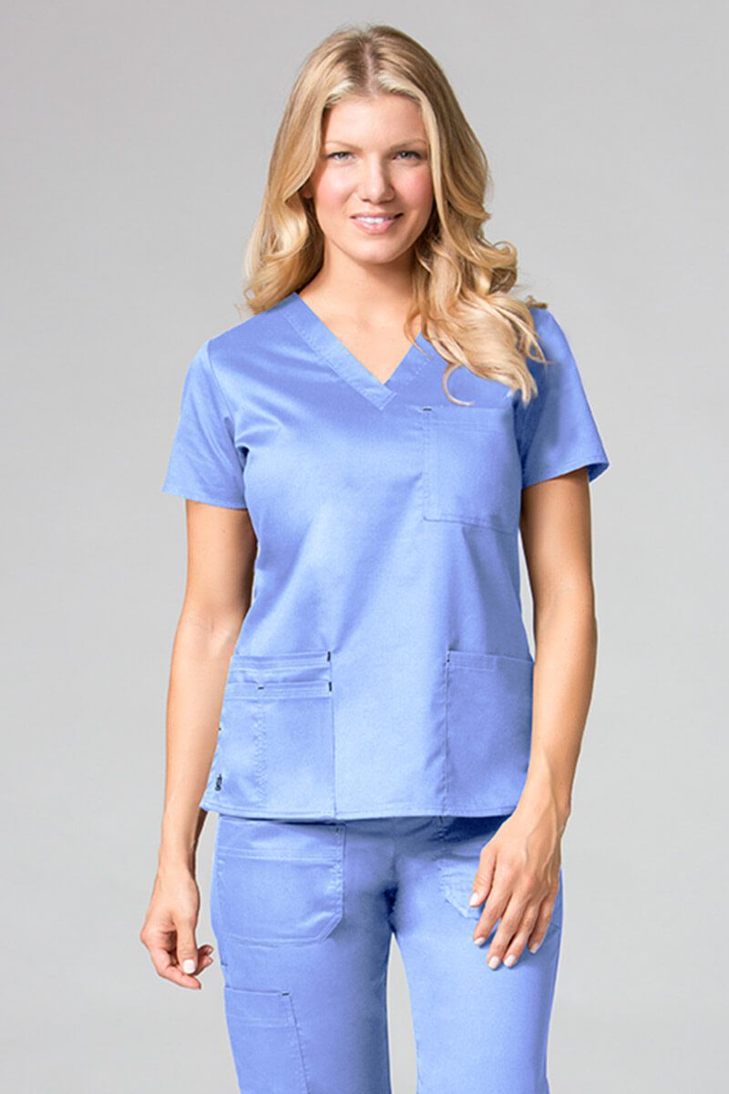 Bluza damska Maevn Blossom (elastic) klasyczny błękit