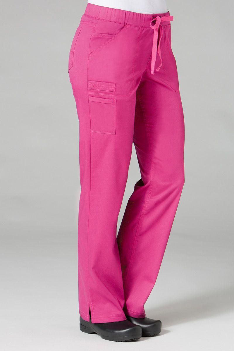 Spodnie medyczne damskie Maevn PrimaFlex różowe