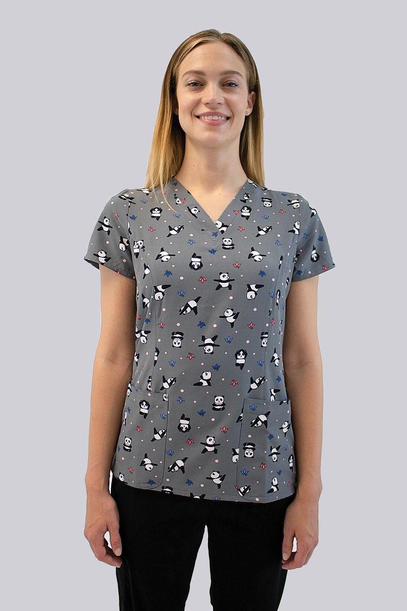 Kolorowa bluza damska Maevn Prints szalone pandy