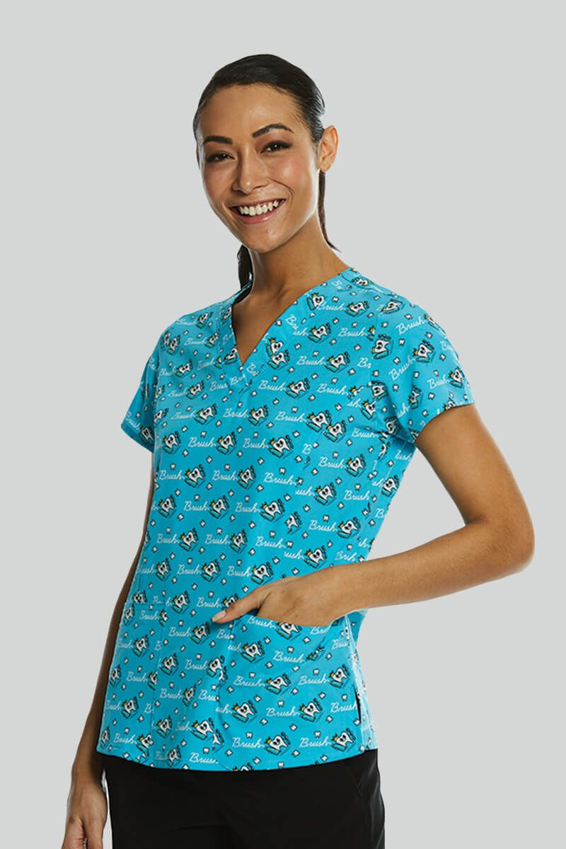 Kolorowa bluza damska Maevn Prints zdrowy ząbek