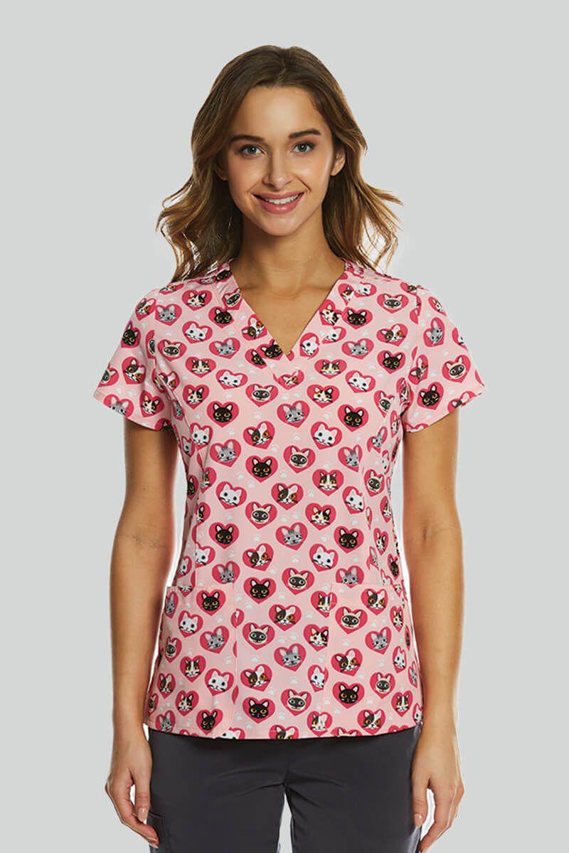 Kolorowa bluza damska Maevn Prints zakochane kotki