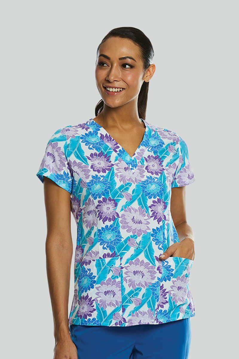 Kolorowa bluza damska Maevn Prints wiosenny bukiet