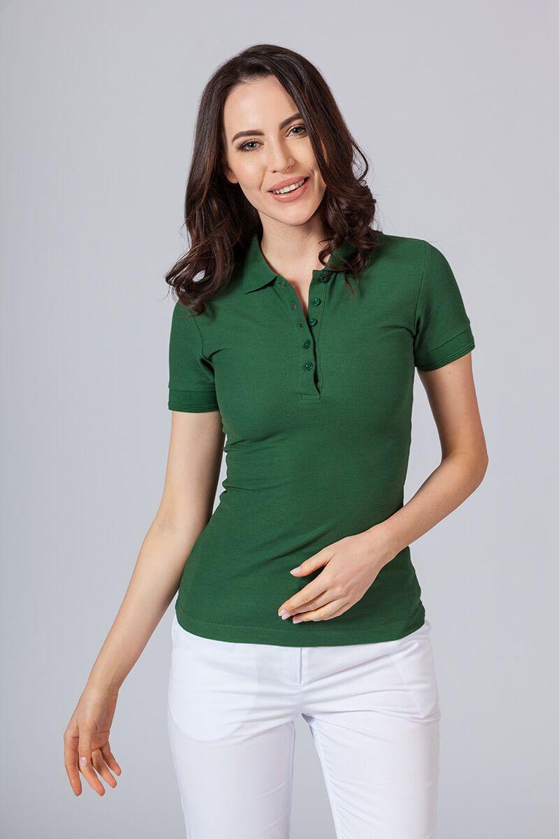Koszulka damska Polo butelkowa zieleń