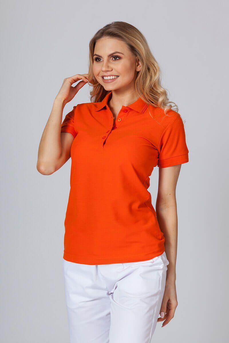 Koszulka damska Polo pomarańczowa