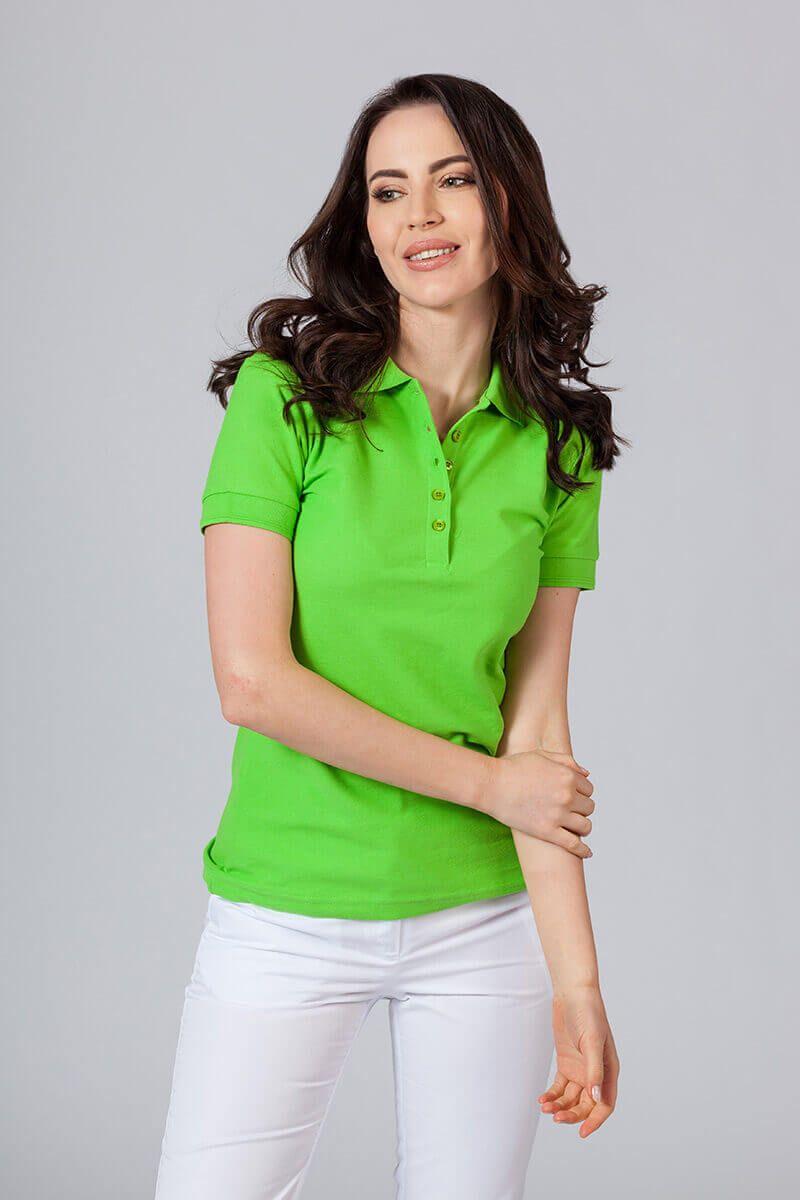 Koszulka damska Polo zieleń jabłkowa