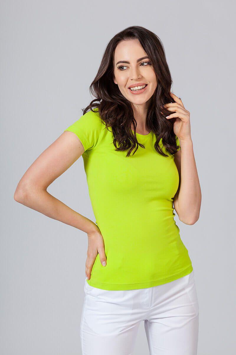 Koszulka damska z krótkim rękawem limonka