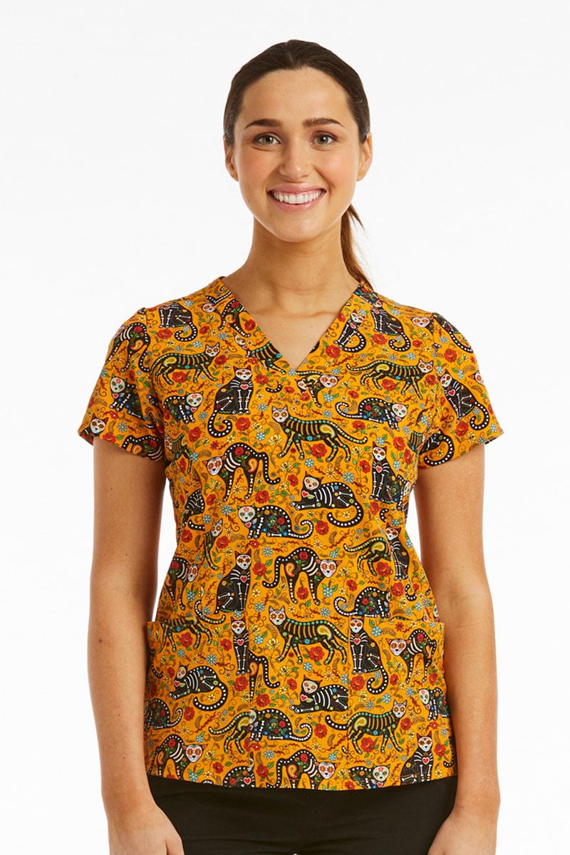 Kolorowa bluza damska Maevn Prints dzień kota
