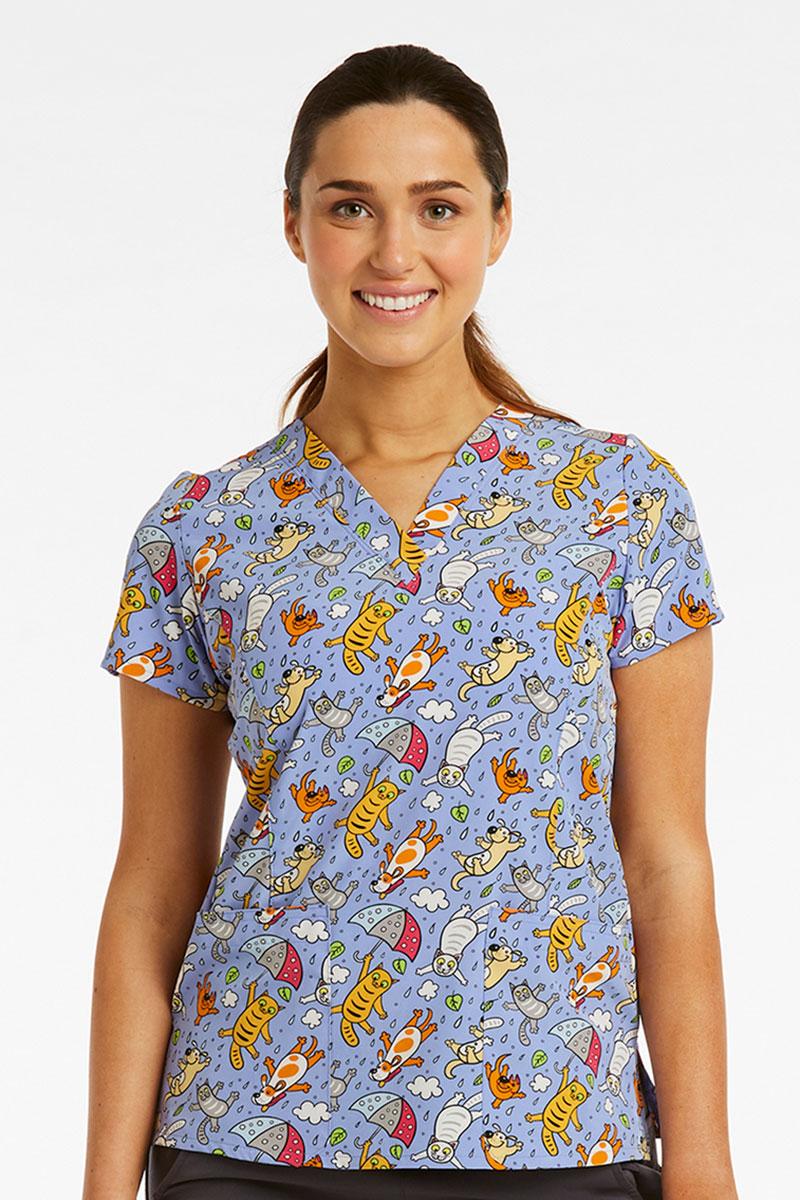 Kolorowa bluza damska Maevn Prints plac zabaw