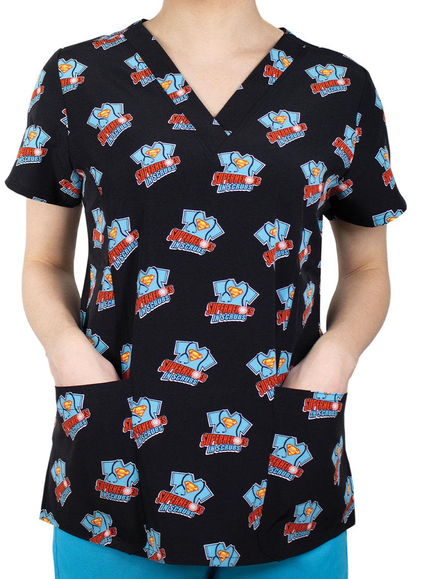 Kolorowa bluza damska Maevn Prints superhero