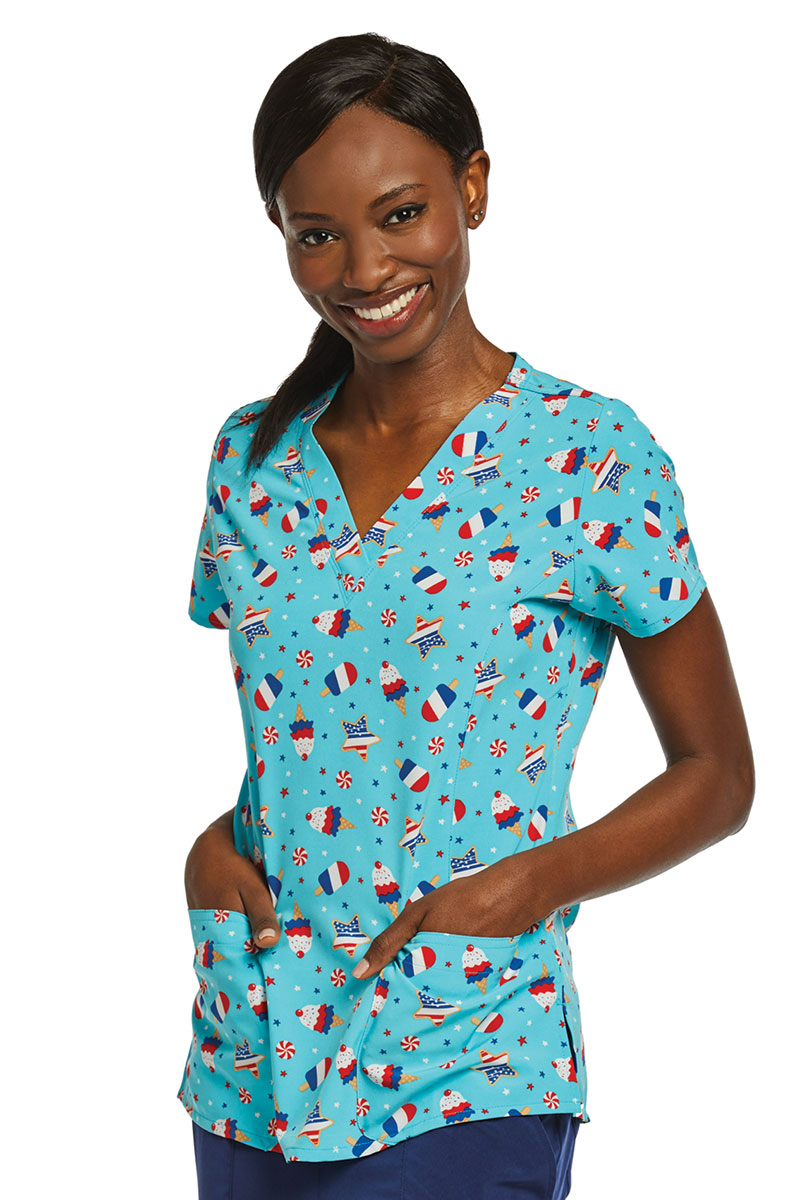 Kolorowa bluza damska Maevn Prints lody na patyku