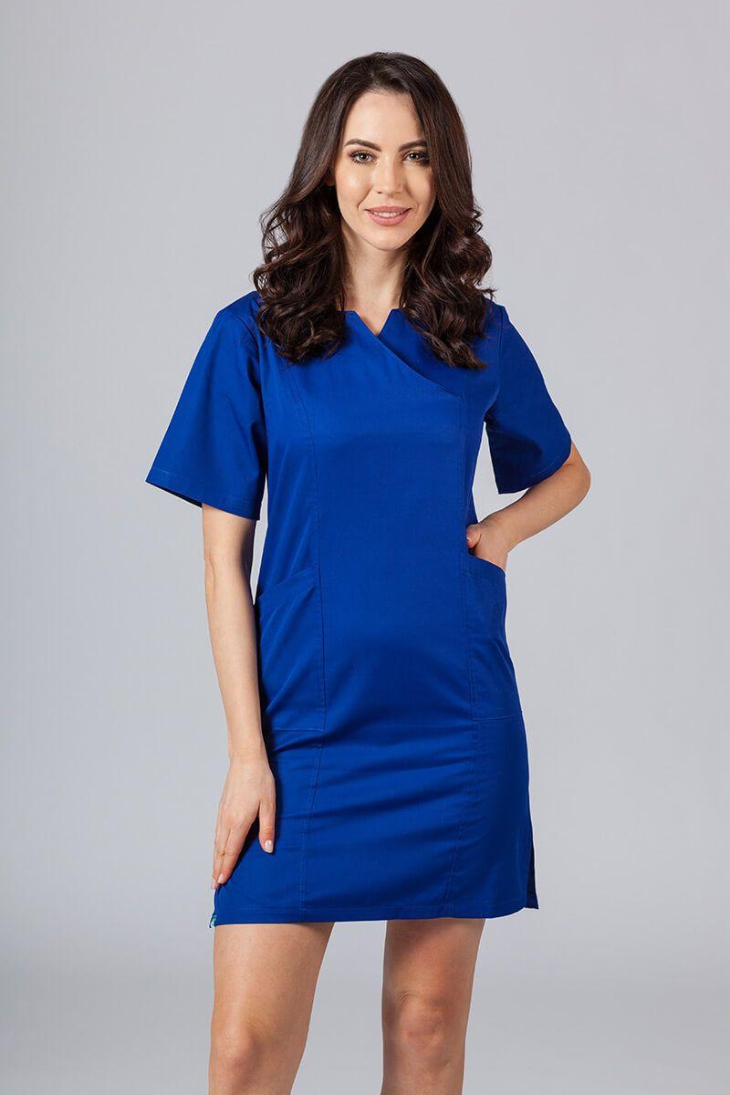 Sukienka medyczna damska klasyczna Sunrise Uniforms granatowa