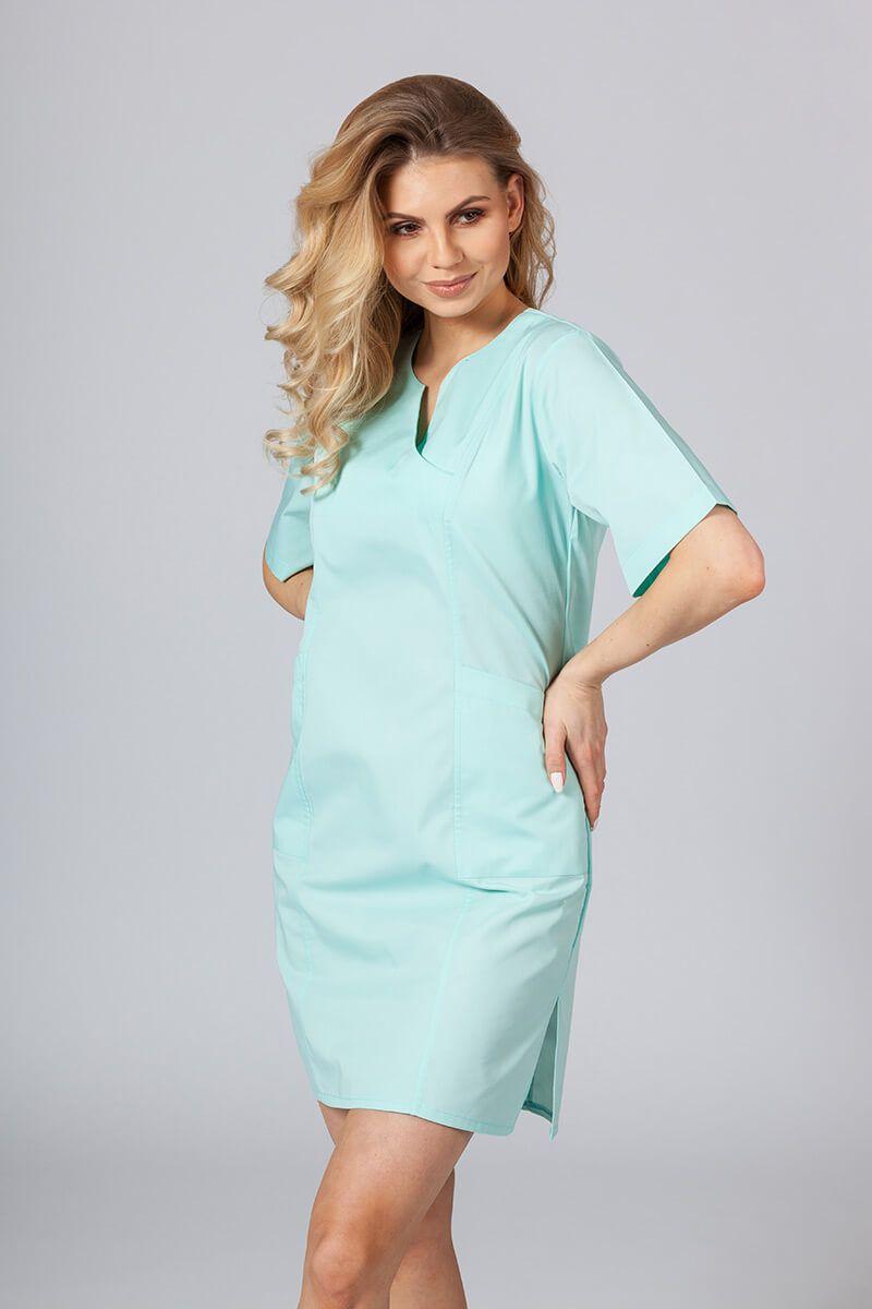 Sukienka medyczna damska klasyczna Sunrise Uniforms miętowa