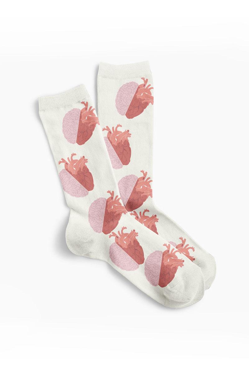 Kolorowe skarpetki Anata beżowe - United Socks