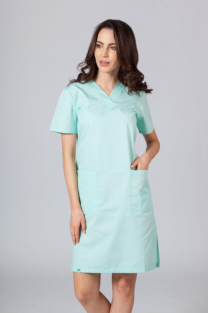 Sukienka medyczna damska prosta Sunrise Uniforms miętowa