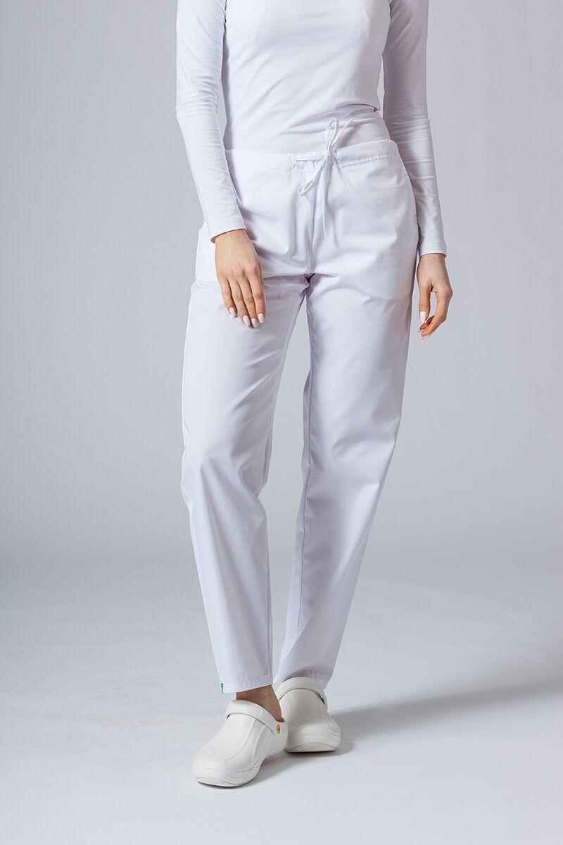 Spodnie medyczne uniwersalne Sunrise Uniforms białe