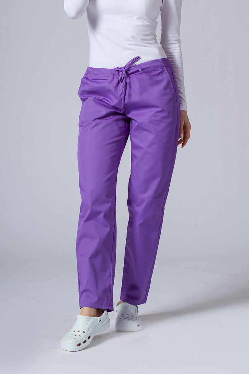 Spodnie medyczne uniwersalne Sunrise Uniforms fioletowe