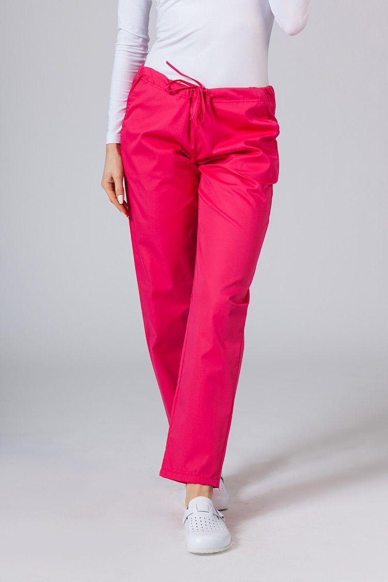 Spodnie medyczne uniwersalne Sunrise Uniforms malinowe
