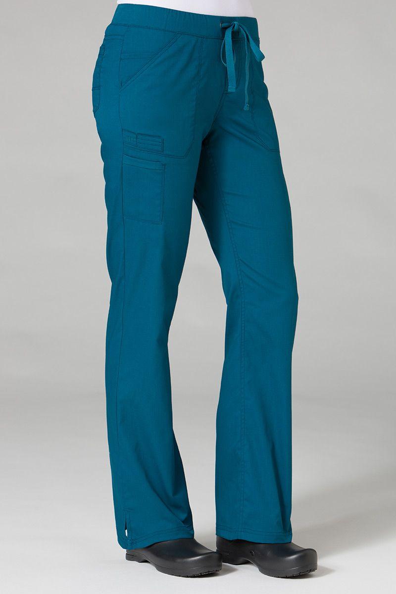 Spodnie medyczne damskie Maevn PrimaFlex karaibski błękit