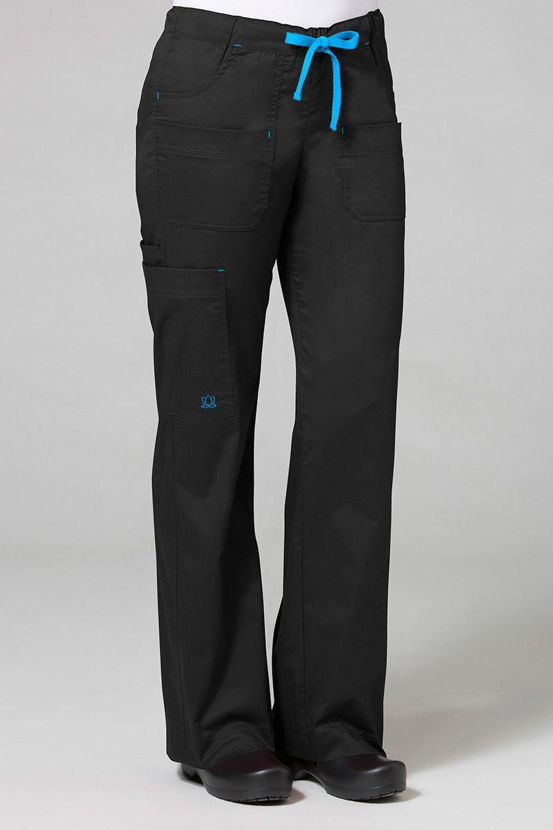 Spodnie medyczne damskie Maevn Blossom (elastic) czarne