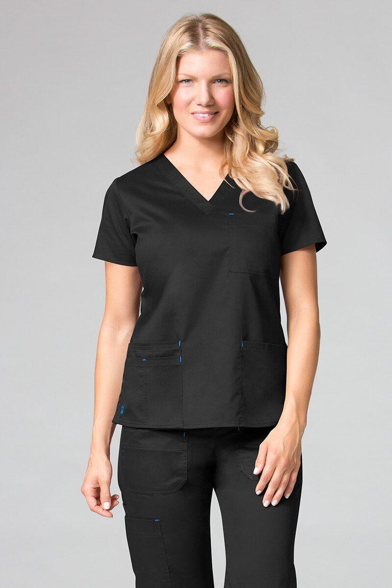 Bluza damska Maevn Blossom (elastic) czarna