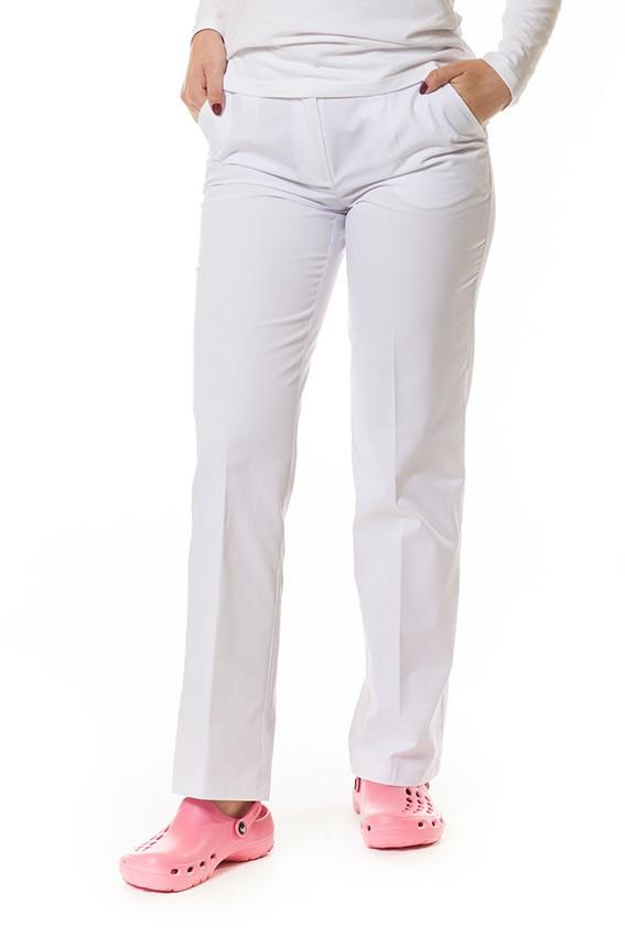 Spodnie damskie Vena białe