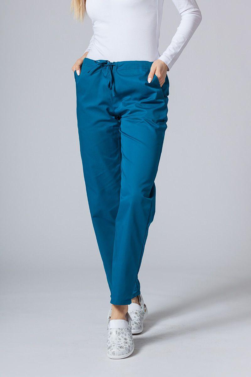 Spodnie medyczne uniwersalne Sunrise Uniforms karaibski błękit