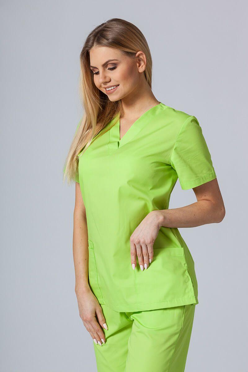 Bluza medyczna damska Sunrise Uniforms limonka taliowana