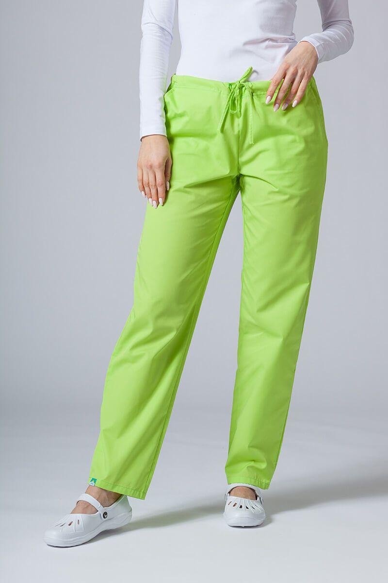 Spodnie medyczne uniwersalne Sunrise Uniforms limonkowe