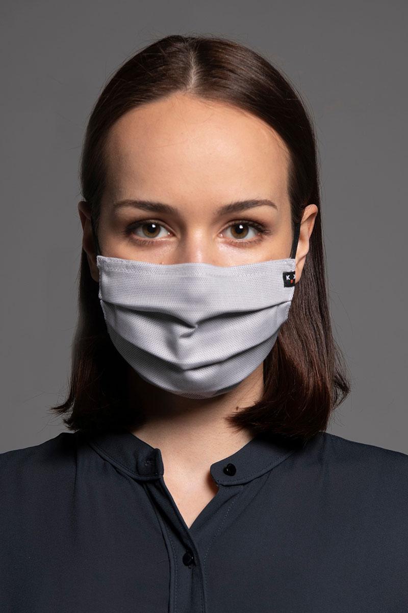 Maska ochronna Classic, 2-warstwowa z kieszonką na filtr (100% bawełna), unisex, szara